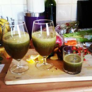 Juicing everything in the kitchen!