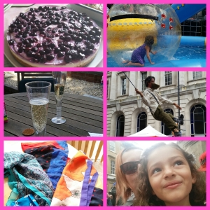 Bits and Bobs from the weekend, City Performer and lilbit watching, Fake champagne and cheesecake!  New scarves present to myself for day 50!
